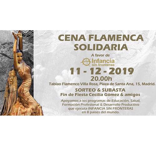 Aperitivos Medina presente en la cena flamenca solidaria a favor de Infancia sin fronteras