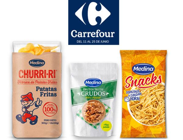Los productos marca Medina presentes en el folleto de alimentos de Madrid de Carrefour
