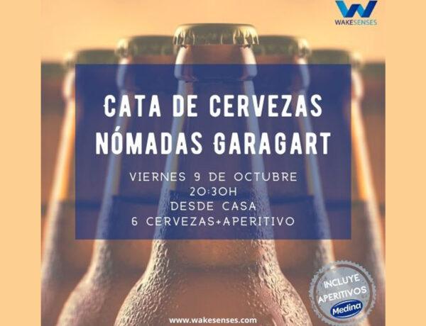 Cata de cervezas nómadas Garagart con Aperitivos Medina